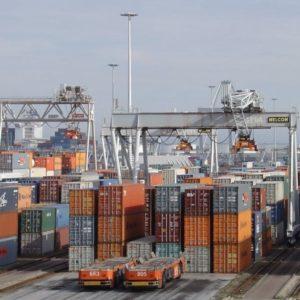 Kalmar containerkranen bij ECT Deltaterminal