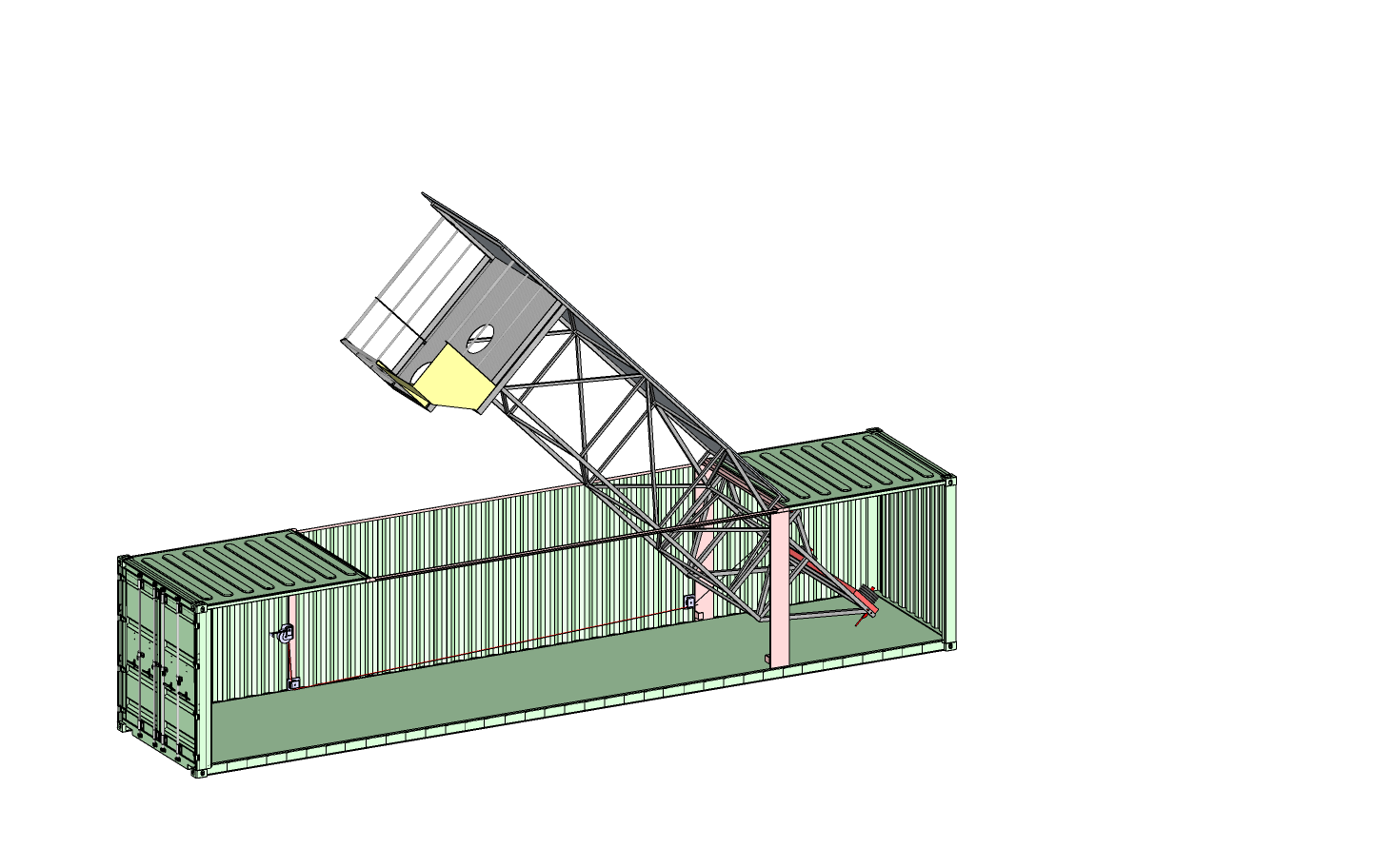 Container tower half