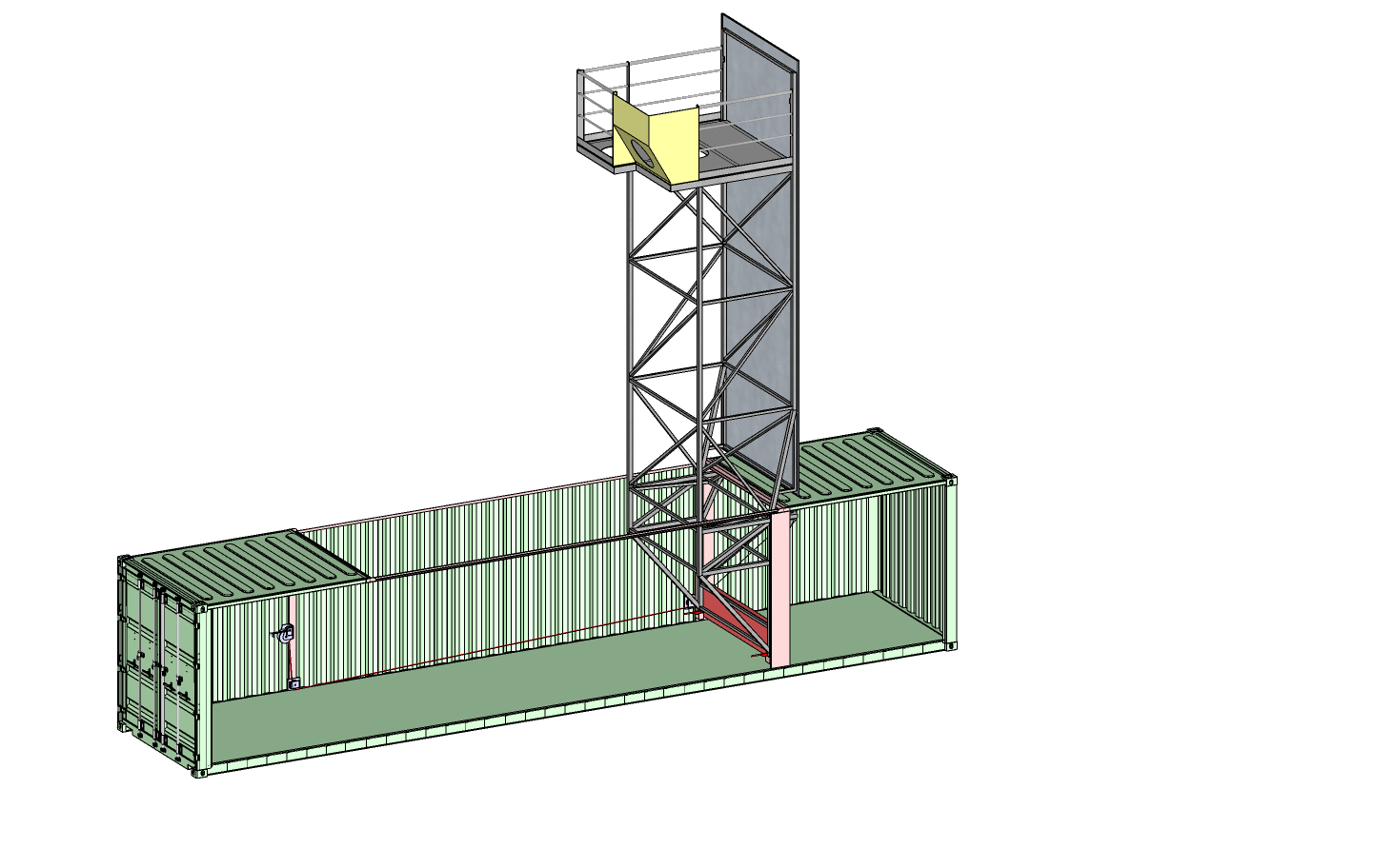 Container tower up